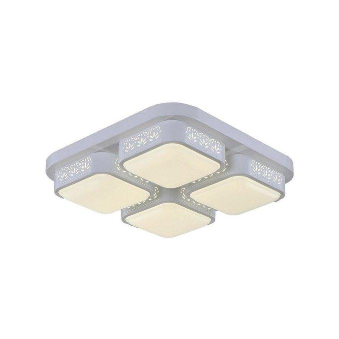 Потолочный светодиодный светильник Лабиринт белого цвета