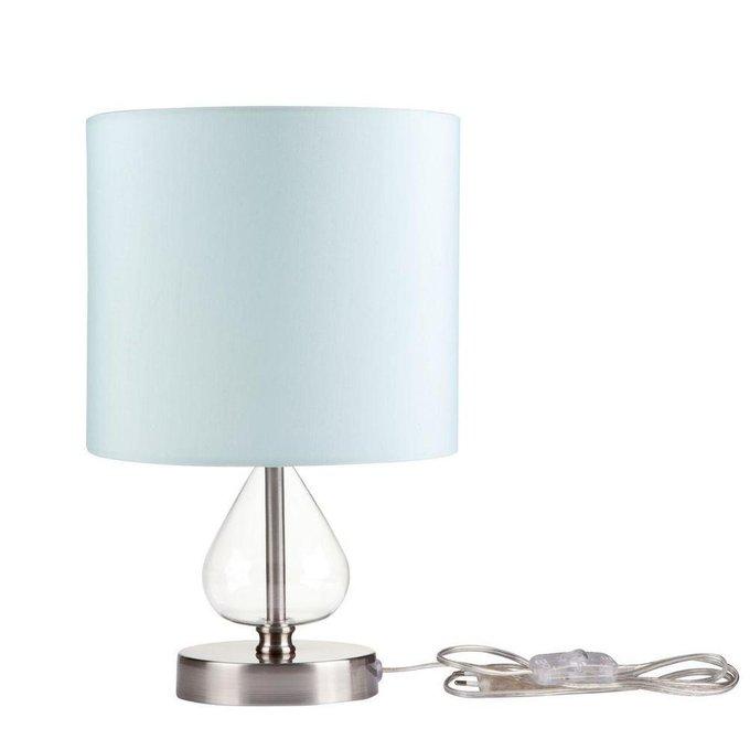 Настольная лампа Armony с голубым абажуром