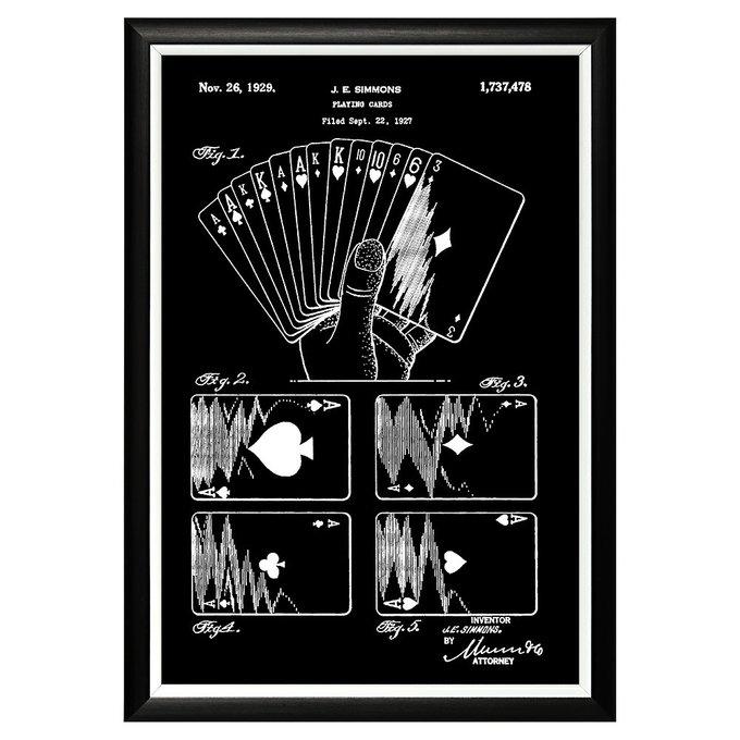 Арт-постер Патент на дизайн игральных карт 1929