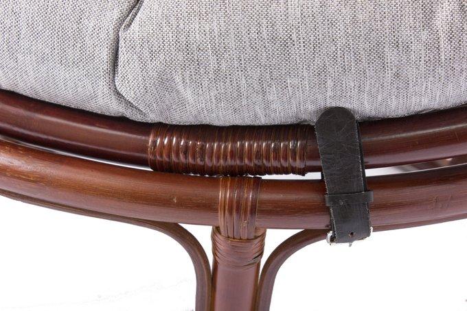 Кресло Papyrus из ротанга с подушкой коньяк