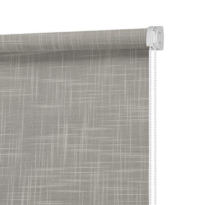 Рулонная штора Миниролл Шантунг серого цвета 40x160