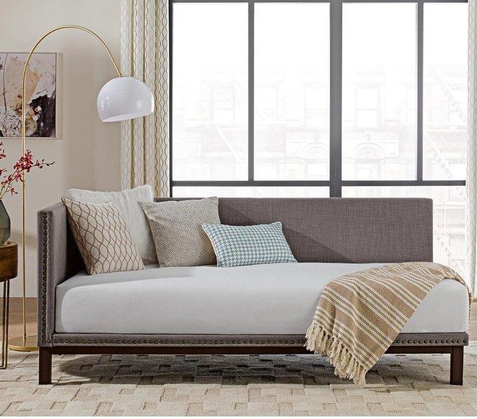 Диван-кровать Taliya серого цвета 90х200