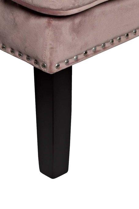 Кресло велюровое дымчато-розовое (с подушкой)