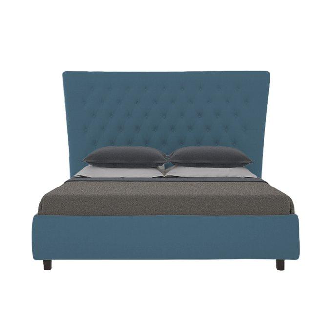 Кровать QuickSand Велюр Морская волна 160х200