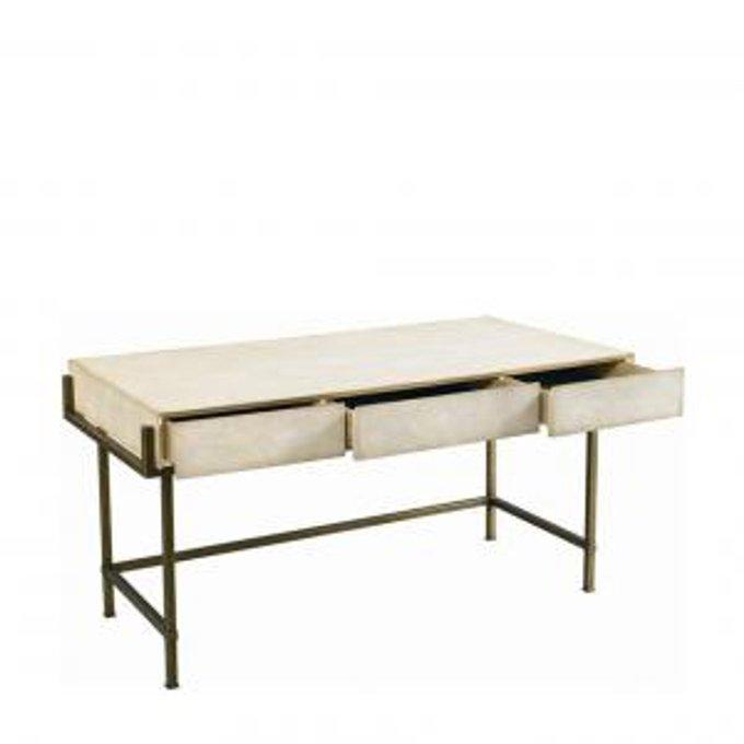 Стол Simone shagreen metal desk