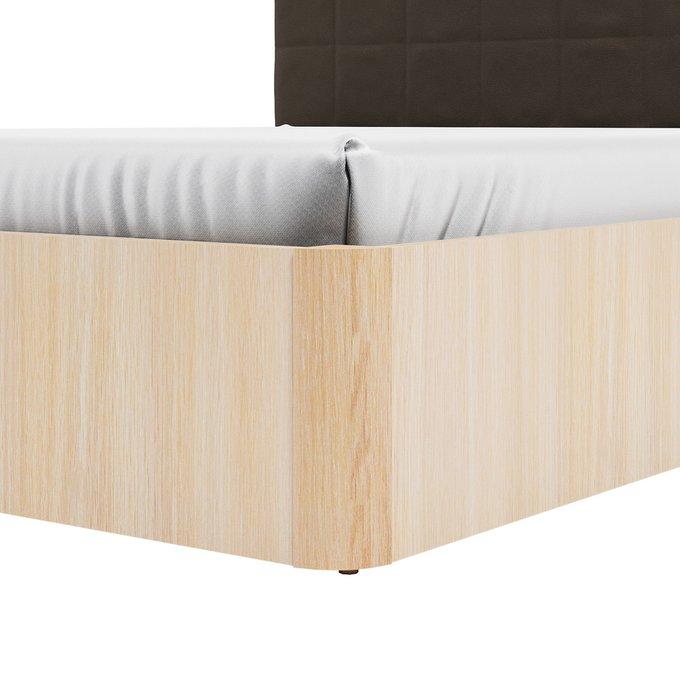 Кровать Магна 180х600 с коричневым изголовьем и подъемным механизмом