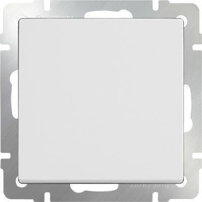 Выключатель одноклавишный белого цвета