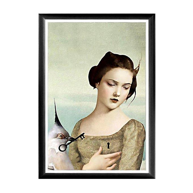 Арт-постер Ключ к сердцу в раме из полистирола