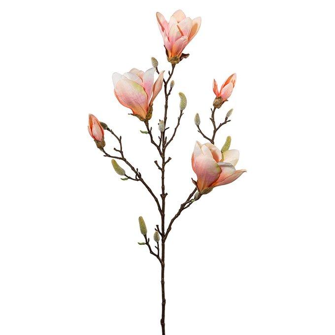 Искусственный цветок Magnolie розового цвета