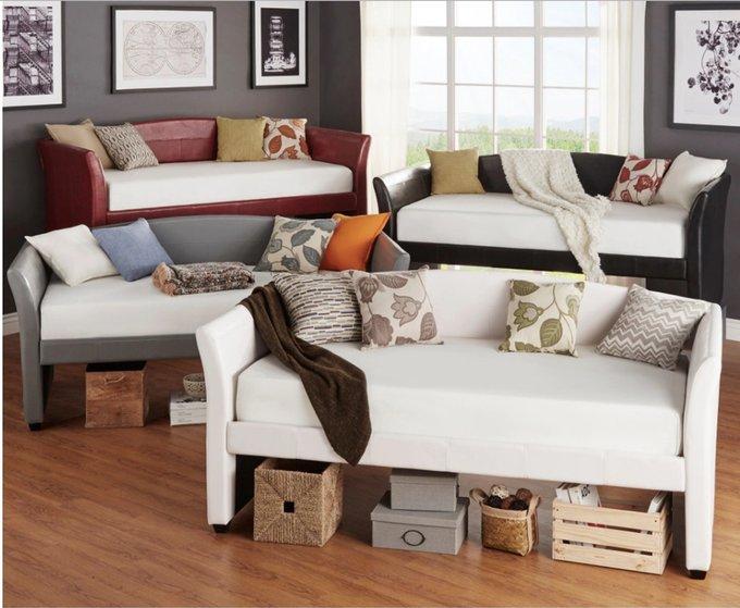 Диван-кровать Gilmor белого цвета 90х200