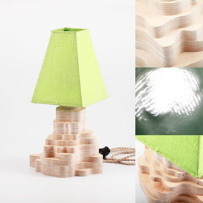 Настольная лампа Stratum Green-White