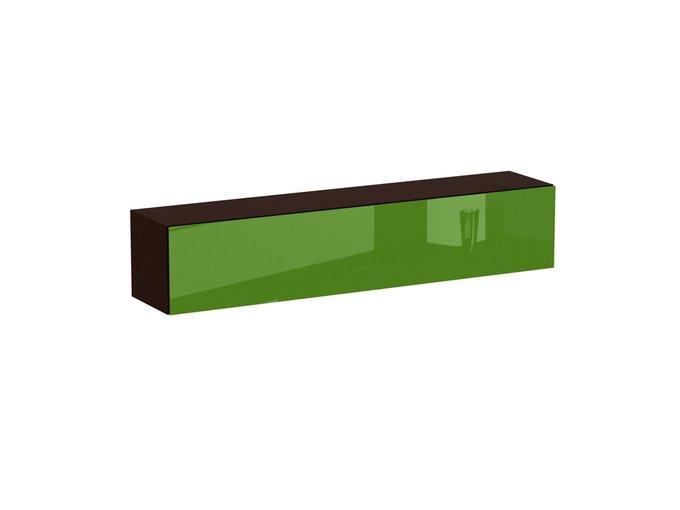 Секция верхняя Cubo с фасадом зеленого цвета