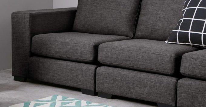 Трехместный раскладной диван Morti серый