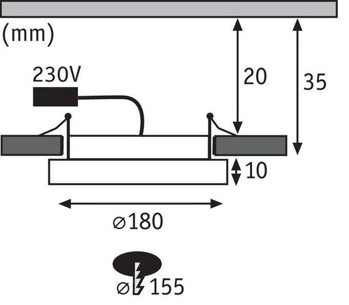 Встраиваемый светодиодный светильник Areo