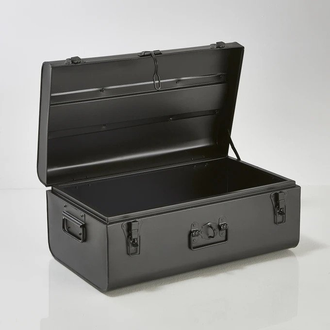 Сундук-чемодан Masa черного цвета