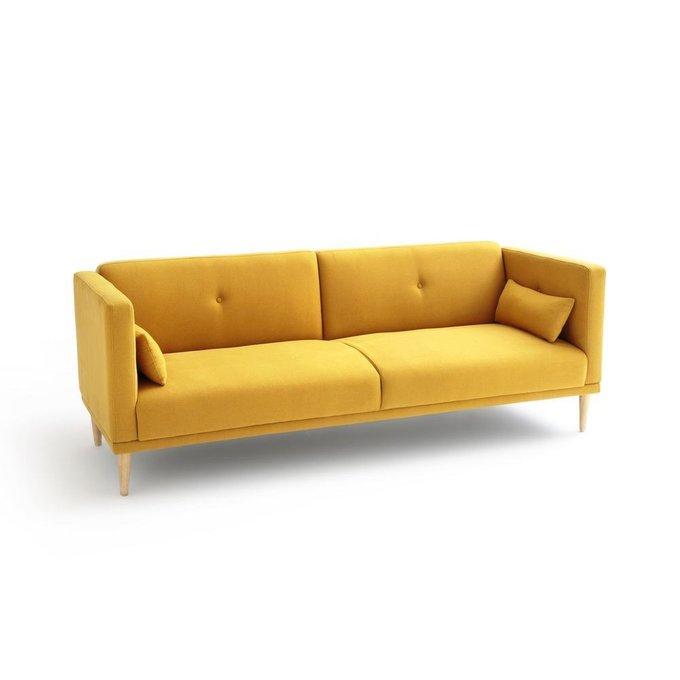 Диван-кровать раскладной Loan желтого цвета
