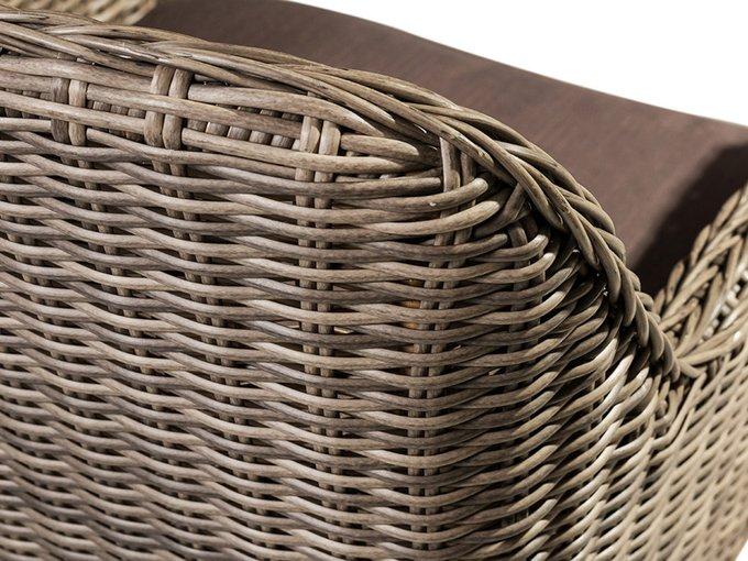 Кресло плетёное Coco Chair из искусственного ротанга серого цвета