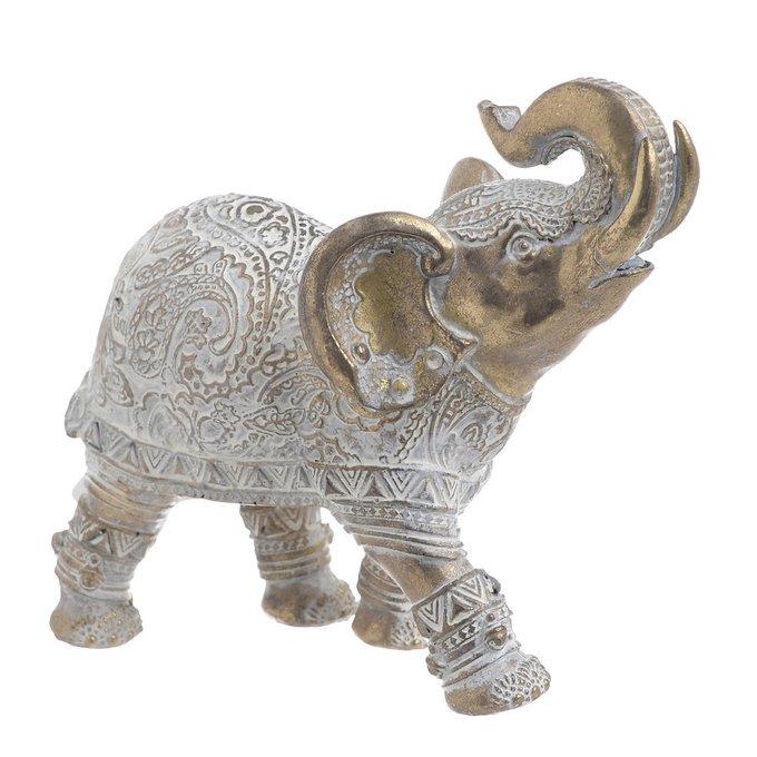 Статуэтка Слон из полистоуна золотого цвета