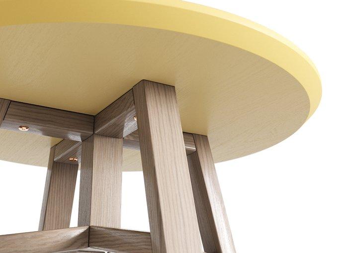 Журнальный стол Mack осветлённый дуб / сливочный
