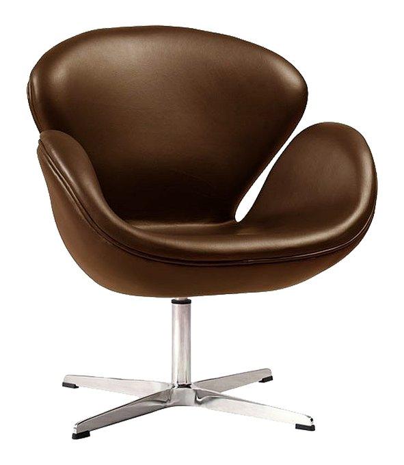 Кресло Swan Chair коричневого цвета