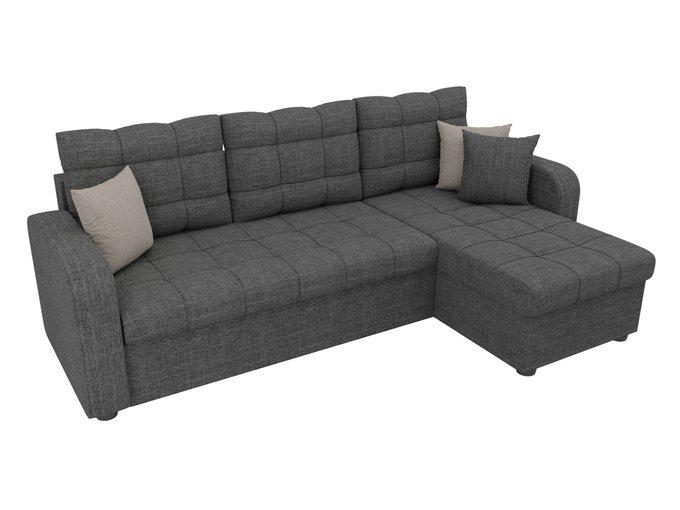 Угловой диван-кровать Ливерпуль серого цвета