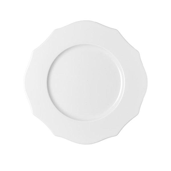 Тарелка обеденная Belle Epoqu белого цвета