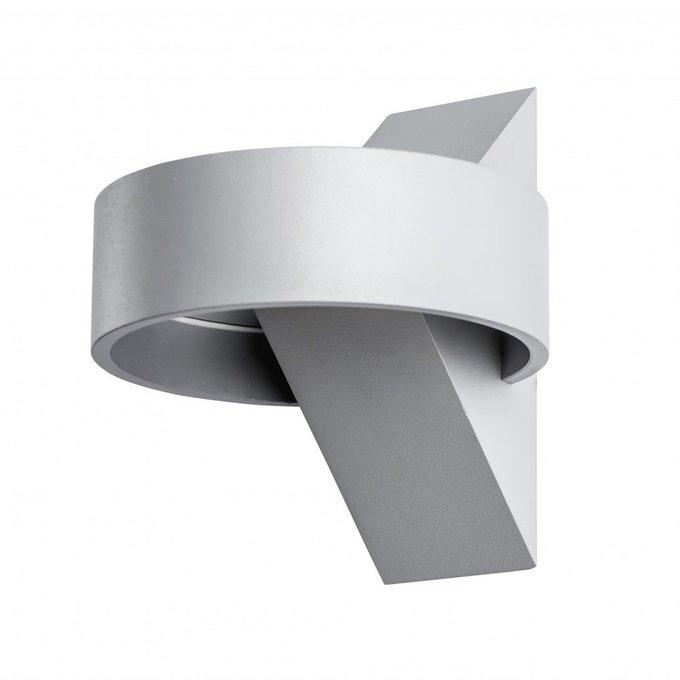 Настенный светодиодный светильник Anello серого цвета