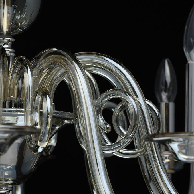 Подвесная люстра Элла с декоративными шарами из хрусталя