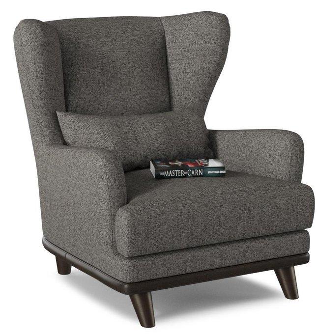 Кресло Роберт дизайн 2 темно-серого цвета
