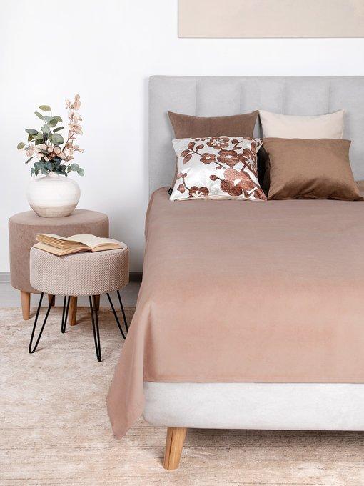 Покрывало Uno Dandy Toffee 140х210 светло-коричневого цвета