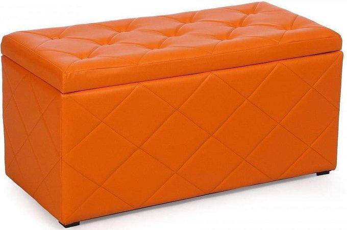 Пуф Ромби оранжеввого цвета