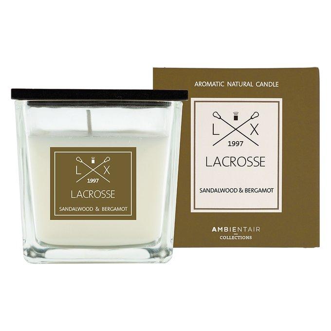 Ароматическая свеча в стекле «сандал и бергамот» Ambientair lacrosse