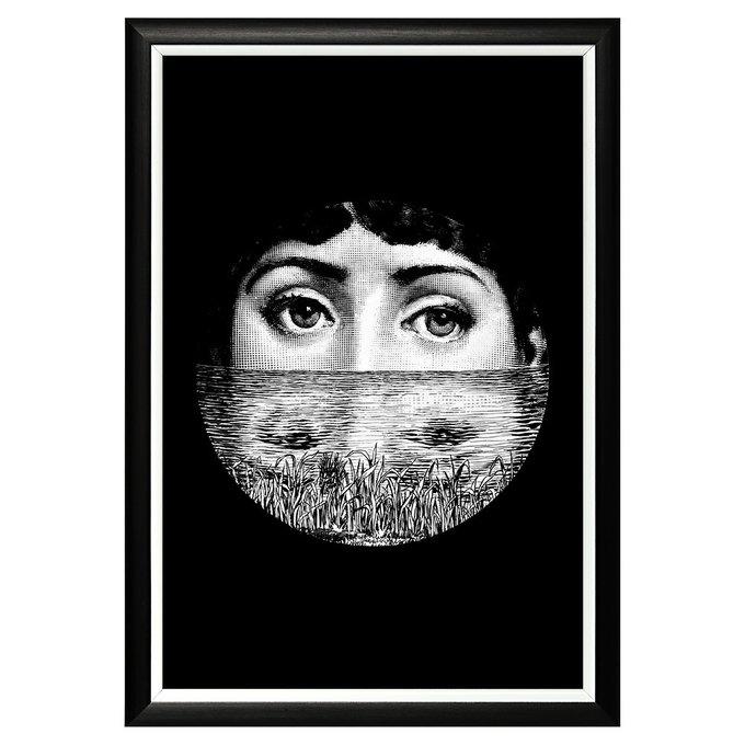 Арт-постер Лина версия Погружение в черно-белой раме