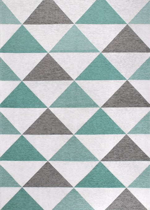 Ковер Line Nils серо-ментолового цвета 160х230