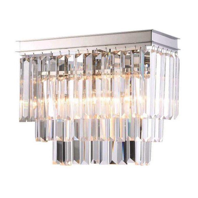 Настенный светильник с хрустальными подвесками