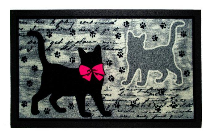 Придверный коврик серо-черного цвета 40х68