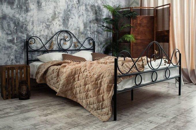 Кованая кровать Венеция 1.4 с двумя спинками 140х200
