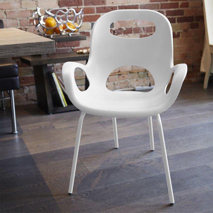 Стул дизайнерский OH Chair белого цвета