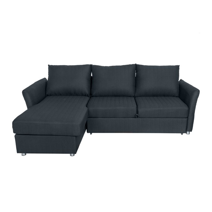 Угловой диван-кровать William Shakespeare тёмно-серого цвета