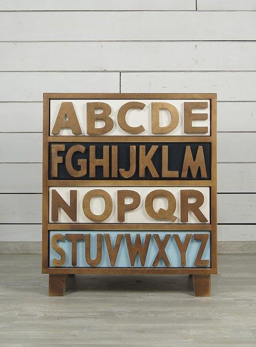 """Маленький комод """"Alphabeto Birch"""" (4 ящика)"""