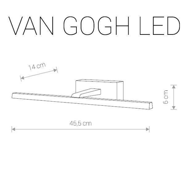 Подсветка для зеркал Van Gogh Led цвета хром