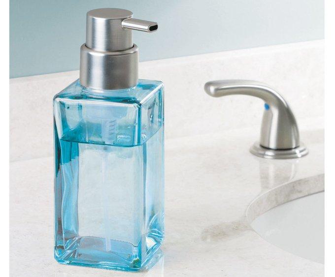 Дозатор для мыла Casilla из голубого стекла