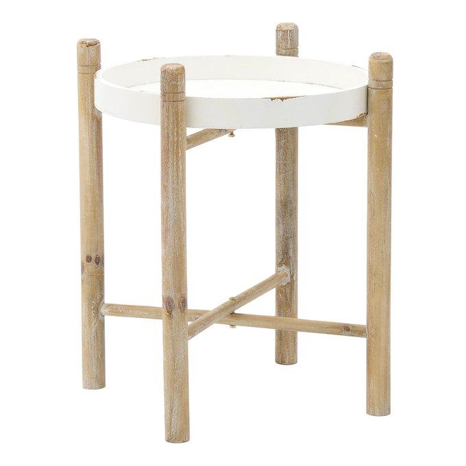 Стол с белой столешницей
