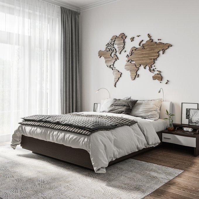 Двуспальная кровать с верхней подсветкой Элеонора 140х200