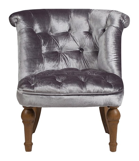 Кресло Sophie Tufted Slipper Chair серого цвета
