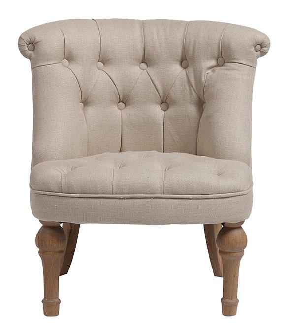 Кресло Sophie Tufted Slipper Chair молочного цвета