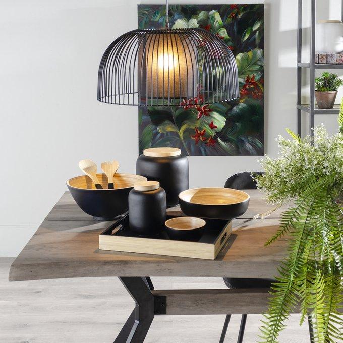 Поднос из бамбука черного цвета