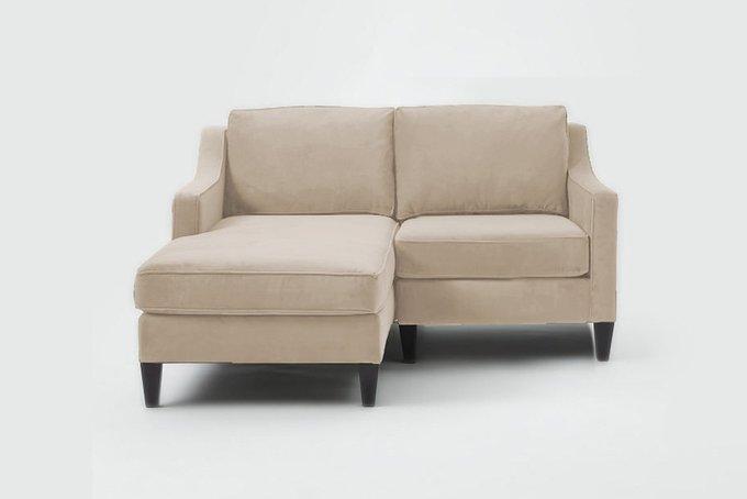 Угловой диван Грегори премиум бежевого цвета