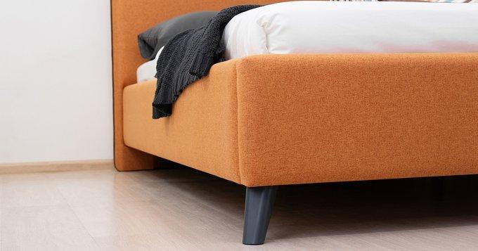 Кровать Миа 160х200 без подъемного механизма тыквенного цвета