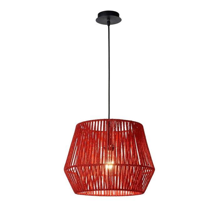 Подвесной светильник Cordo красного цвета